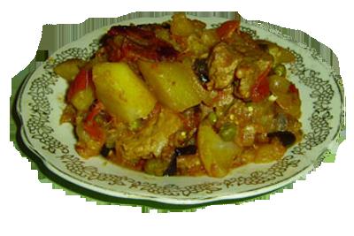 Мясной фарш и грибы и сыр блюда